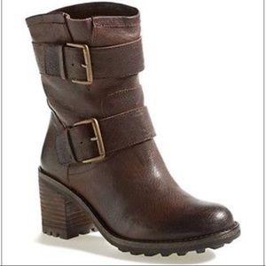 Sam Edelman Troy Biker Moto Dark Brown Boots 8 M